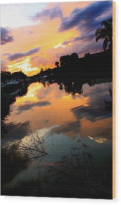 Sunset Bay Wood Print by AR Annahita
