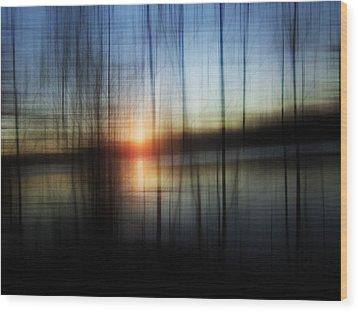 Sunset Blur Wood Print by Florin Birjoveanu