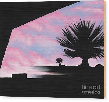 Sunset Boulevard Dreams Wood Print