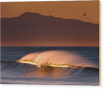 Wood Print featuring the photograph Sunset Breaking73a0456 by David Orias