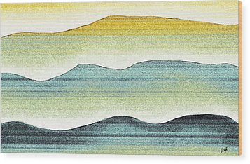 Sunset Wood Print by Brenda Bryant
