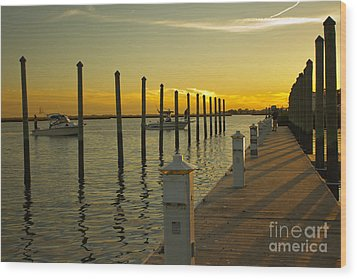 Wood Print featuring the photograph Sunset By The Marina One by Jose Oquendo