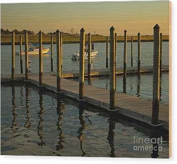 Wood Print featuring the photograph Sunset By The Marina Two by Jose Oquendo
