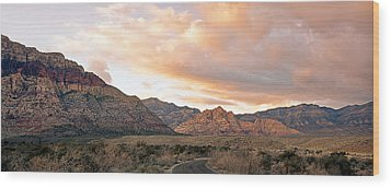 Sunset Canyon Drive Wood Print by Aron Kearney