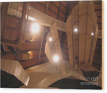 Sunset Center Ceiling Wood Print