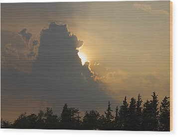 Sunset Cloud Wood Print