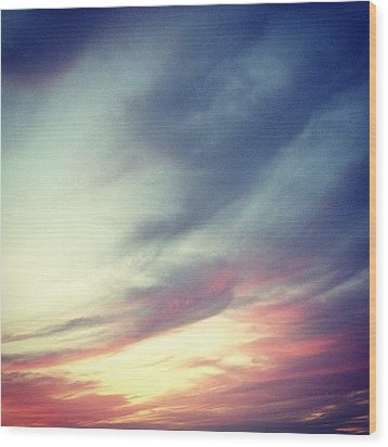 Sunset Clouds Wood Print by Christy Beckwith