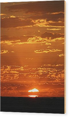 Wood Print featuring the photograph Sunset Clouds by Henry Kowalski