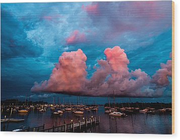 Sunset Clouds Wood Print by Jonathan Gewirtz