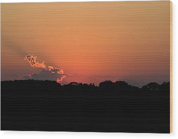 Sunset Clouds Wood Print by Mark Russell