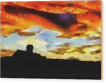 Sunset Colours Wood Print by Ayse and Deniz