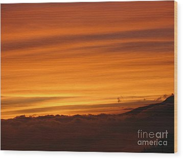 Sunset - Coucher De Soleil - Plaine Des Cafres - Ile De La Reunion - Reunion Island - Indian Ocean Wood Print by Francoise Leandre
