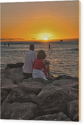 Sunset Moment Wood Print by John Swartz