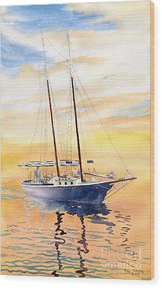 Sunset Cruise Wood Print