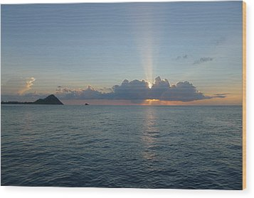 Wood Print featuring the photograph Sunset Cruise - St. Lucia 2 by Nora Boghossian