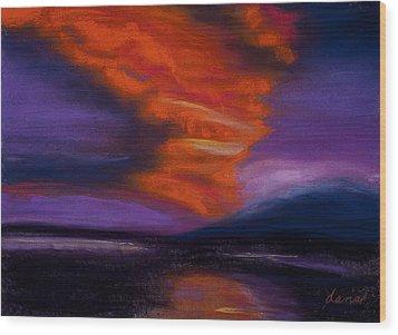 Sunset Wood Print by Dana Strotheide