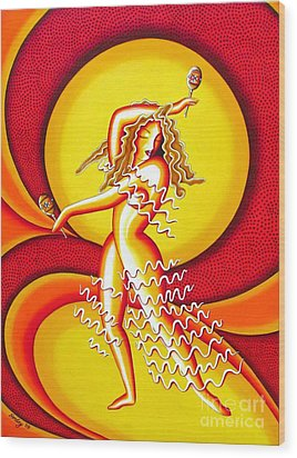 Sunset Dancer Wood Print