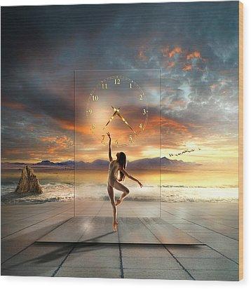 Wood Print featuring the digital art Sunset Dancing by Franziskus Pfleghart