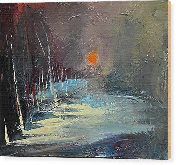Sunset Wood Print by David Figielek