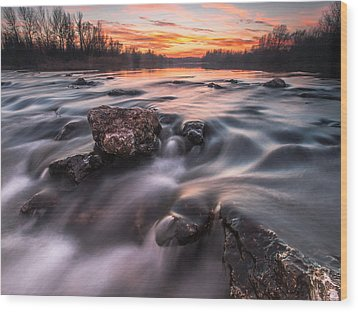Sunset Wood Print by Davorin Mance