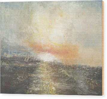 Sunset Drama Wood Print