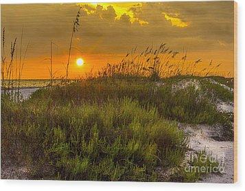 Sunset Dunes Wood Print