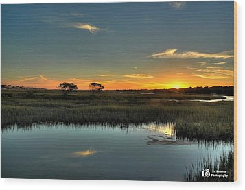 Sunset Wood Print by Ed Roberts