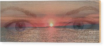 Wood Print featuring the photograph Sunset Eyes Inspirational Art By Saribelle Rodriguez by Saribelle Rodriguez
