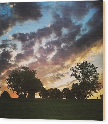 Wood Print featuring the photograph Sunset Federal Hill by Toni Martsoukos