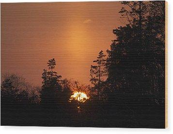 Sunset Flare Wood Print
