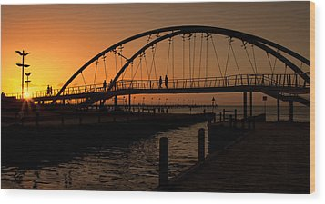Wood Print featuring the photograph Sunset Glow by Kim Andelkovic