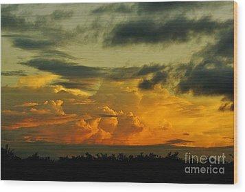 Sunset Glow Wood Print by Lynda Dawson-Youngclaus