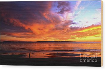 Wood Print featuring the photograph Sunset Glow by Sue Halstenberg