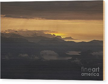 Wood Print featuring the photograph Sunset by Gunnar Orn Arnason