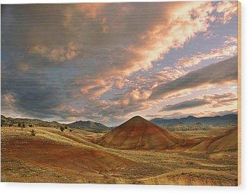 Sunset Hill Wood Print