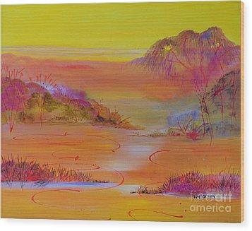 Sunset Hills Wood Print by Lyn Olsen