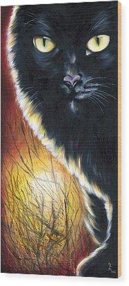 Sunset Wood Print by Hiroko Sakai