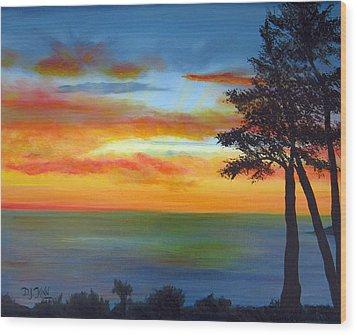 Sunset IIi Wood Print by Dottie Kinn
