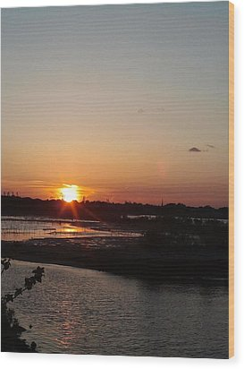 Sunset In Bayonne Wood Print by Anastasia Konn