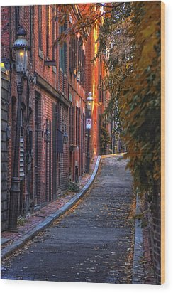 Sunset In Beacon Hill Wood Print by Joann Vitali