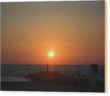 Sunset In Captiva Wood Print