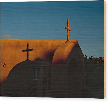 Sunset In Chimayo Nm Wood Print