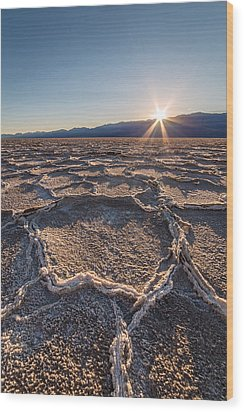 Sunset In Death Valley  Wood Print by Pierre Leclerc Photography