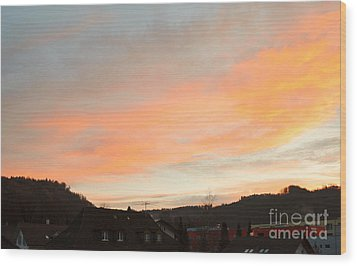 Wood Print featuring the photograph Sunset In December 1 by Felicia Tica