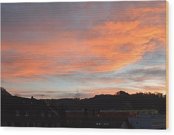 Wood Print featuring the photograph Sunset In December by Felicia Tica