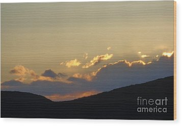 Sunset In June Wood Print by Christina Verdgeline