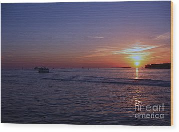 Sunset In Keywest Wood Print