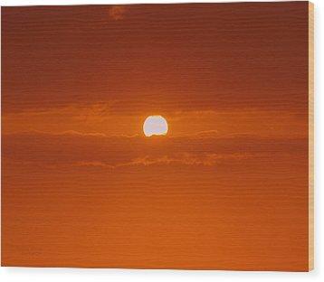 Sunset In Kona Wood Print by Athala Carole Bruckner