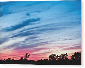 Wood Print featuring the photograph Sunset In Ontario Canada by Marek Poplawski