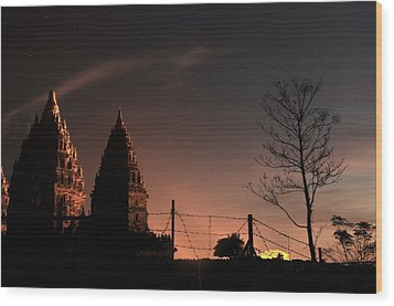 Sunset In Prambanan Wood Print by Achmad Bachtiar